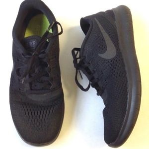NIKE Free RN Black sneakers running #831509-002